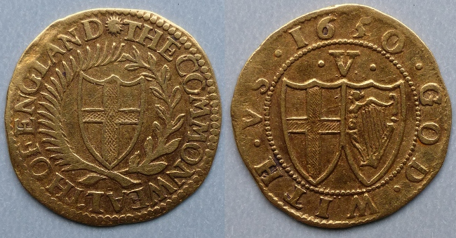 Commonwealth, 1650 gold crown