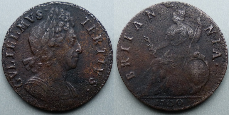 William III, 1700 halfpenny