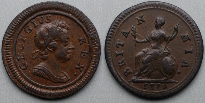 George I, 1719 dump issue farthing