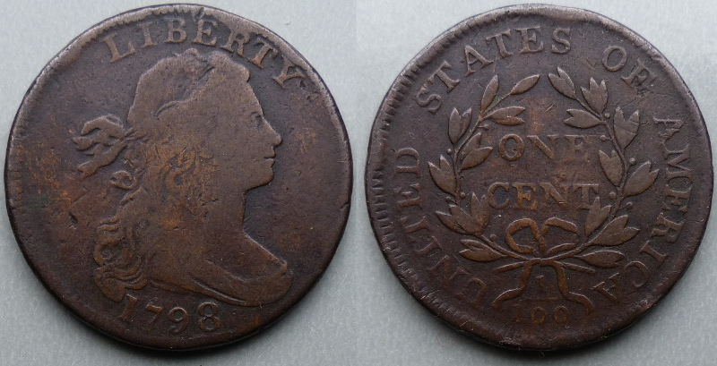 Draped bust 1798 large cent