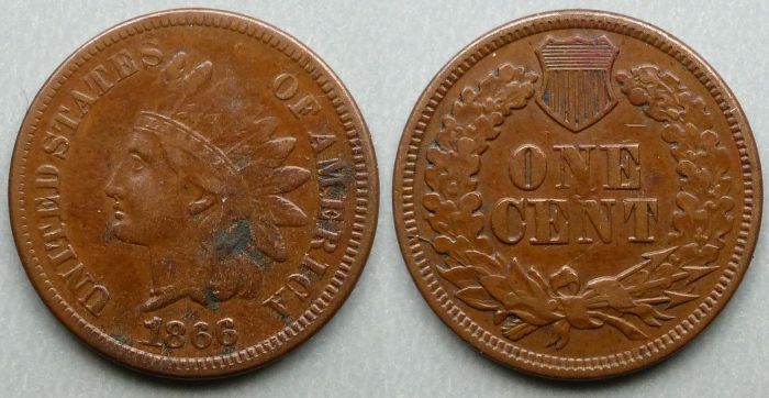 1860 Indian Head cent / penny
