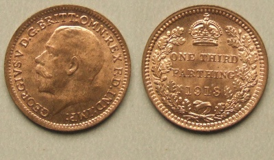 George V 1913 third farthing