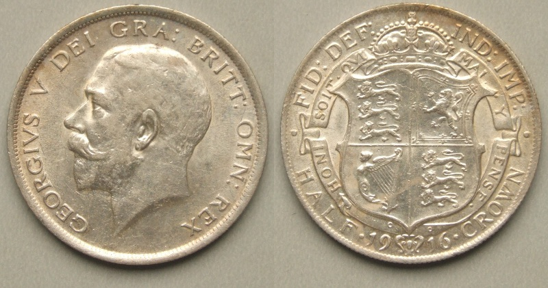 George V, 1916 halfcrown
