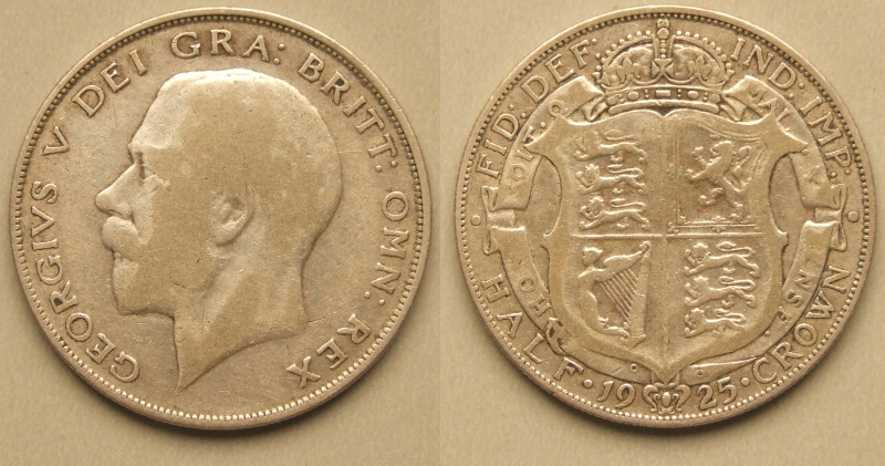 George V, 1925 halfcrown