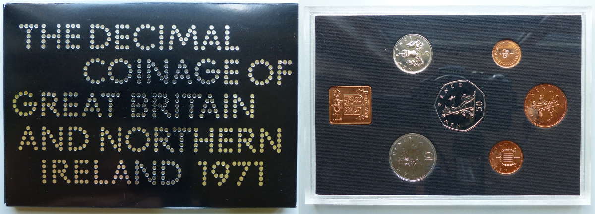 1971 Coinage of Great Britain & Northern Ireland proof year set