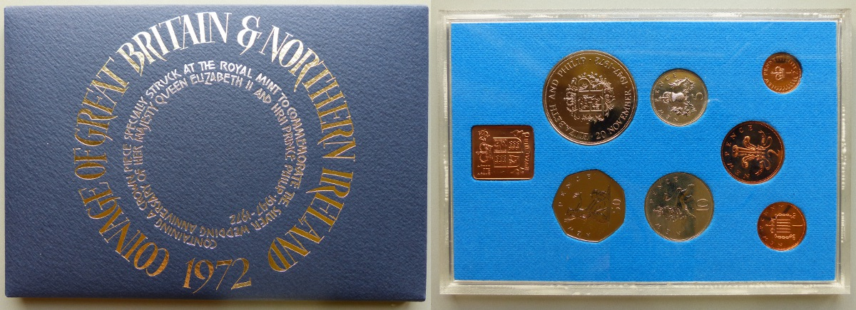 1972 Coinage of Great Britain & Northern Ireland proof year set