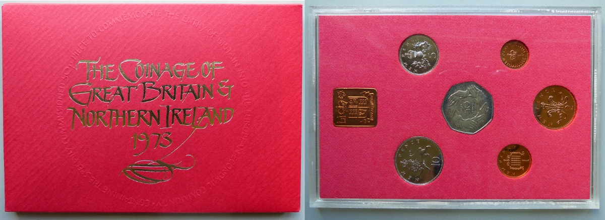 1973 Coinage of Great Britain & Northern Ireland proof year set
