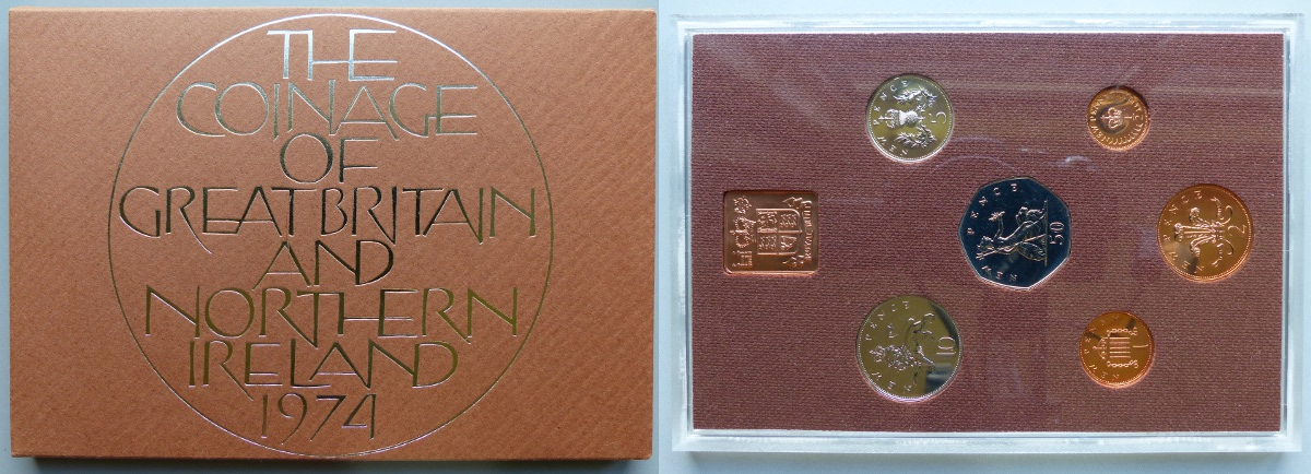 1974 Coinage of Great Britain & Northern Ireland proof year set