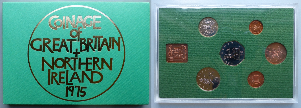 1975 Coinage of Great Britain & Northern Ireland proof year set