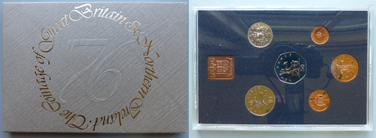 1976 Coinage of Great Britain & Northern Ireland proof year set