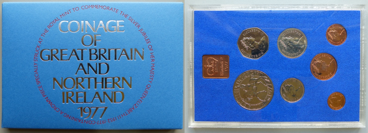 1977 Coinage of Great Britain & Northern Ireland proof year set
