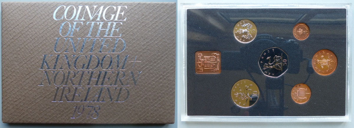 1978 Coinage of Great Britain & Northern Ireland proof year set