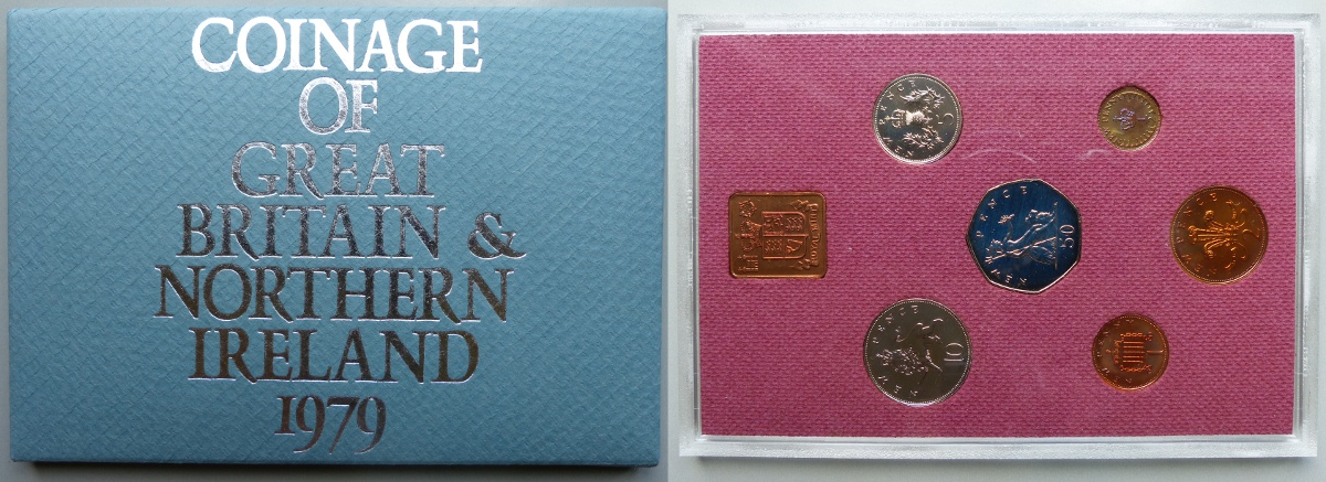 1979 Coinage of Great Britain & Northern Ireland proof year set