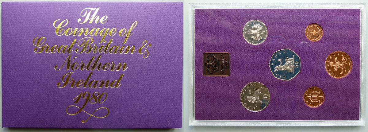 1980 Coinage of Great Britain & Northern Ireland proof year set