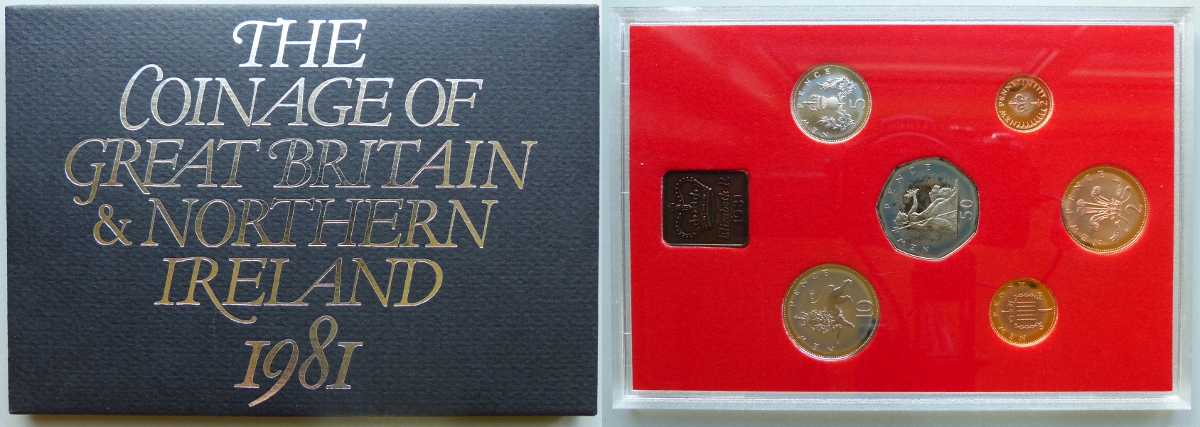 1981 Coinage of Great Britain & Northern Ireland proof year set