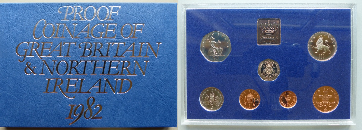 1982 Coinage of Great Britain & Northern Ireland proof year set