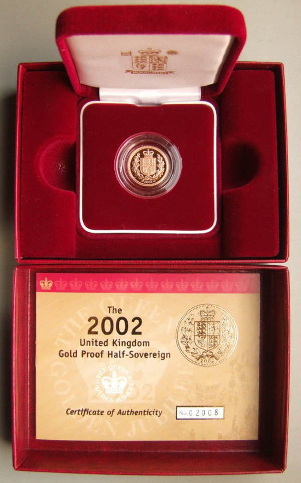 2002 proof half sovereign, FDC