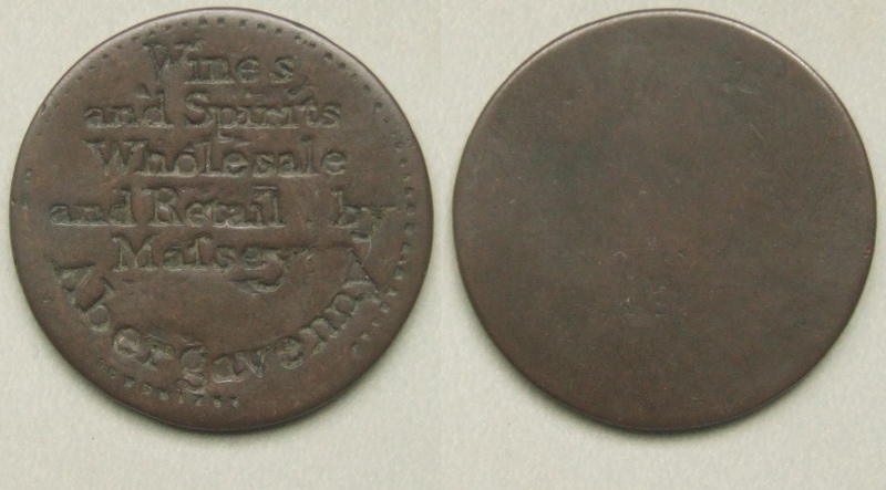 Abergavenny wines and spirits merchant token