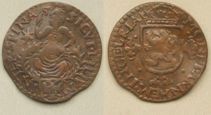 Arnhem City copper duit ND (c 1595)