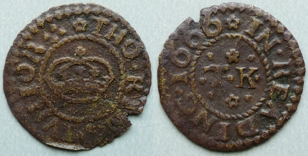 Reading. Tho King Junior 1666 farthing