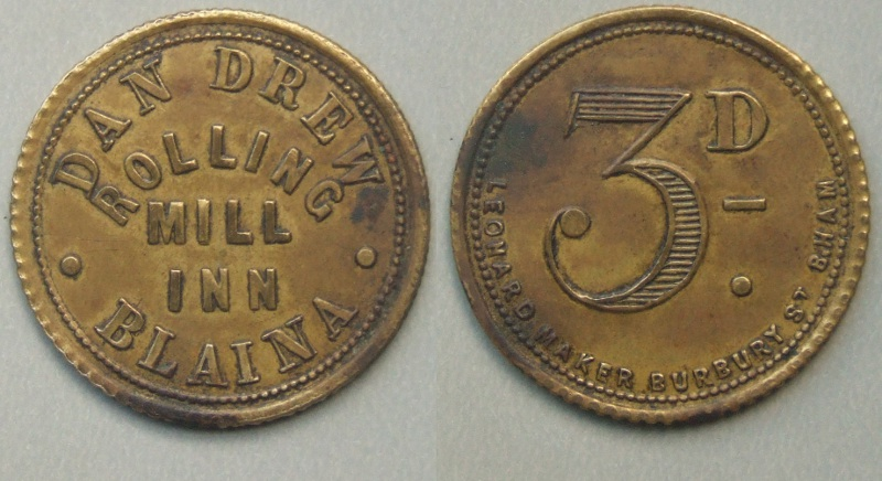 Blaina Rolling Mill Inn token