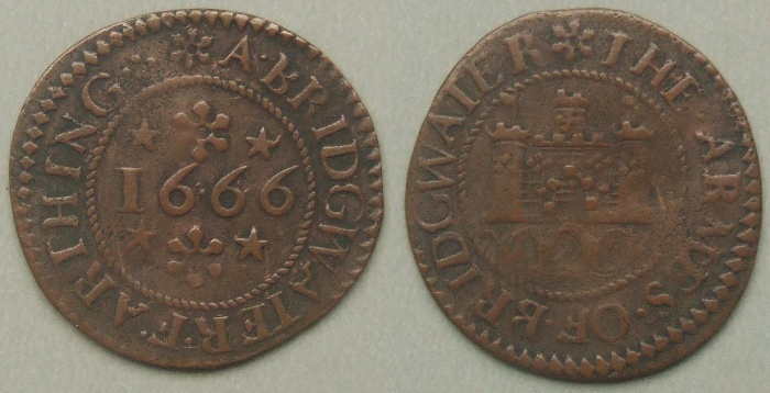 Bridgwater, town issue 1666 farthing N3975