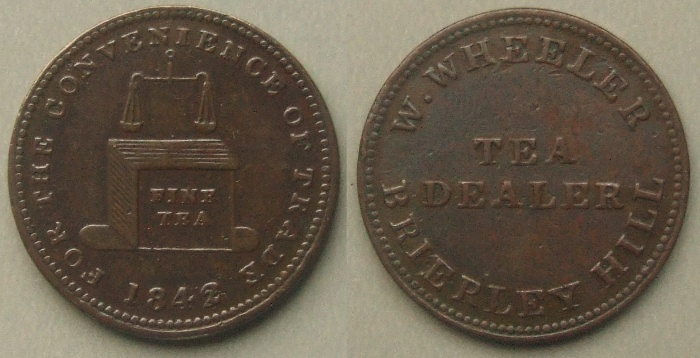 Brierly Hill 1842 unofficial farthing