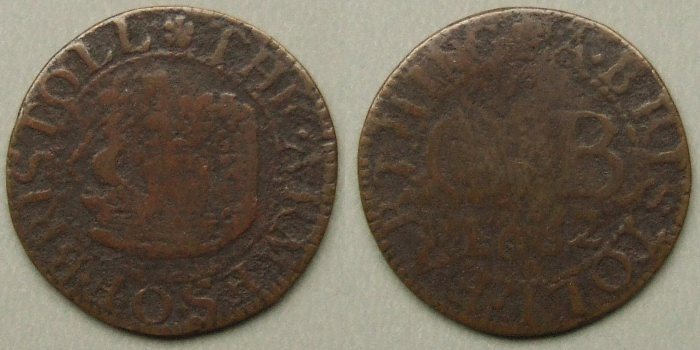 Bristol, city issue 1662 farthing N1516