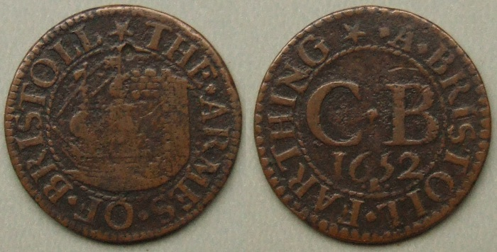 Bristol, city issue 1652 farthing N1458