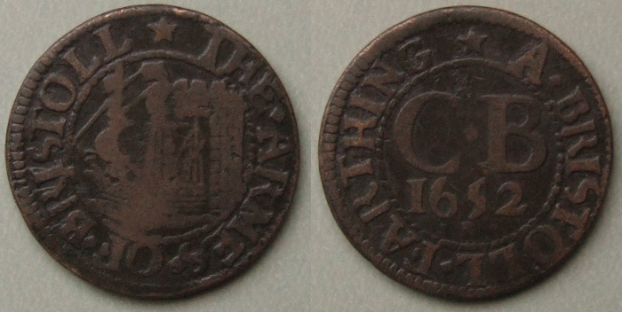 Bristol, city issue 1652 farthing N1494