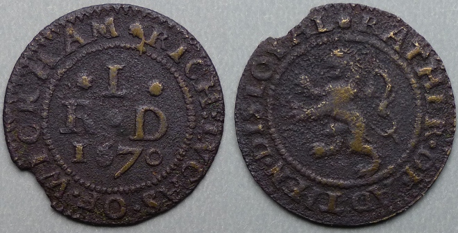 Wycombe, Rich Lucas 1670 halfpenny