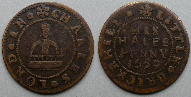 Little Brickhill, Charles Lord 1669 halfpenny