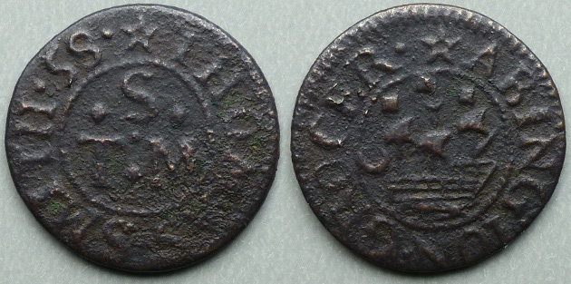 Abington, Thomas Smith 1658 farthing