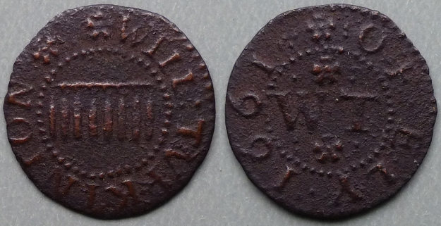 Ely, Will Turkington 1661 farthing N450