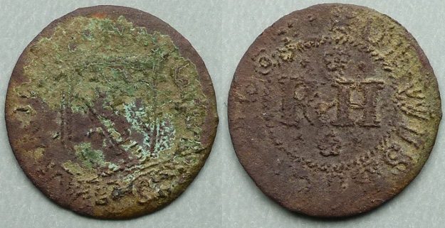 Wisbech, Richard Harrisson 1664 farthing