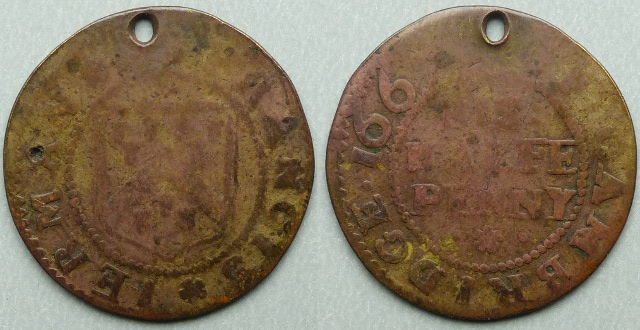 Cambridge, Francis Jerman 1667 halfpenny