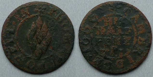 Cambridge, Thomas Powell 1666 halfpenny
