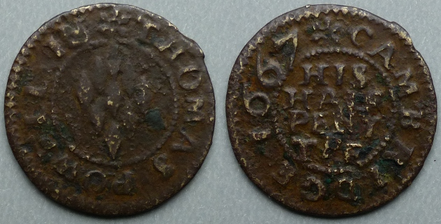 Cambridge, Thomas Powell 1667 halfpenny