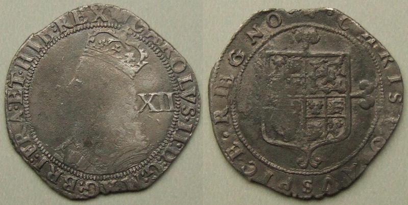 Charles II hammered issue shilling 1660-2