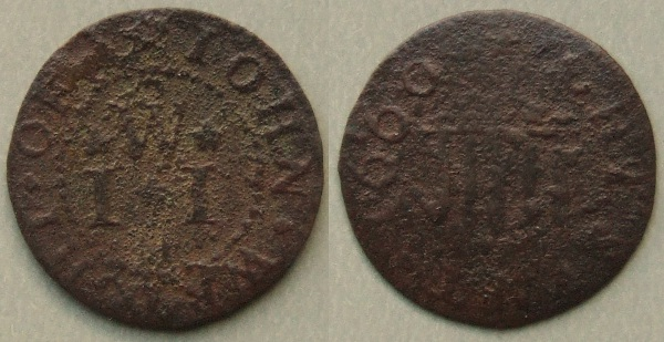 Cheshunt, John Wright 1660 farthing token