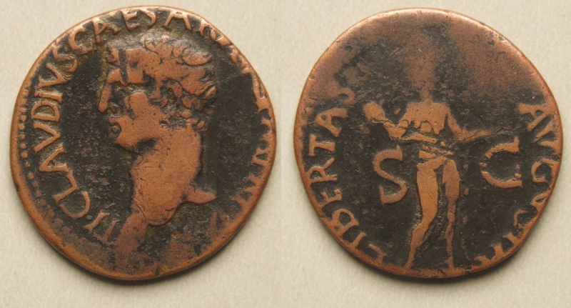 Claudius, Copper As, Libertas