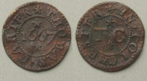 Colchester Thomas Carter 1667 token