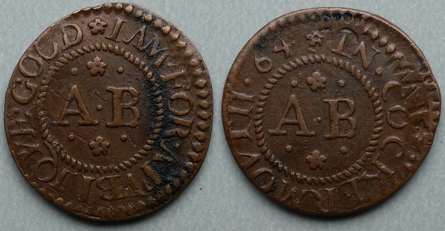 Cockermouth, Anthony Bouch corporation issue 1664 farthing