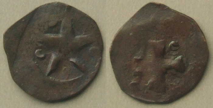 Denmark Christopher II Civil War Coinage pfennig 1319 - 32