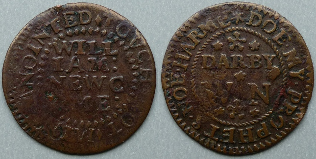 Derby, William Newcome halfpenny token