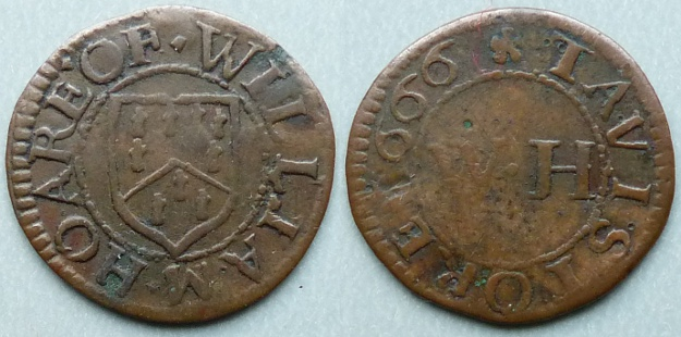 Tavistock, William Hoare 1666 farthing