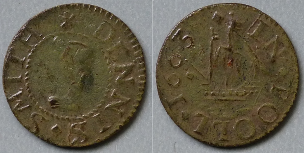 Poole, Dennis Smith 1663 farthing