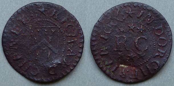 Dorchester, Richard Cheney 1666 farthing