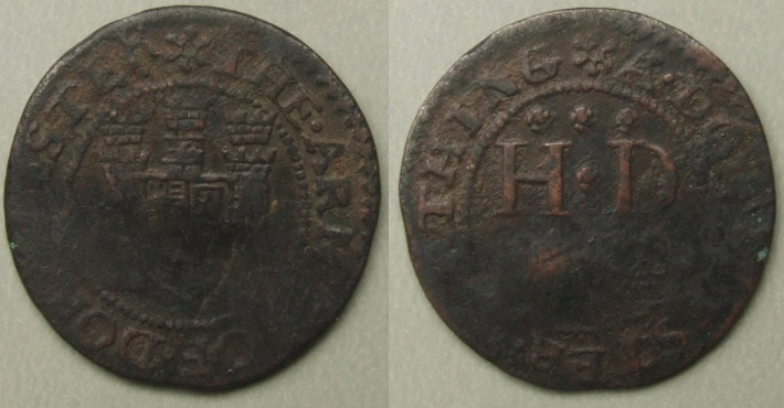 Dorchester, town issue 1669 farthing, N892