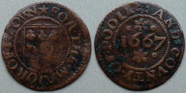 Poole, Borough issue 1667 farthing